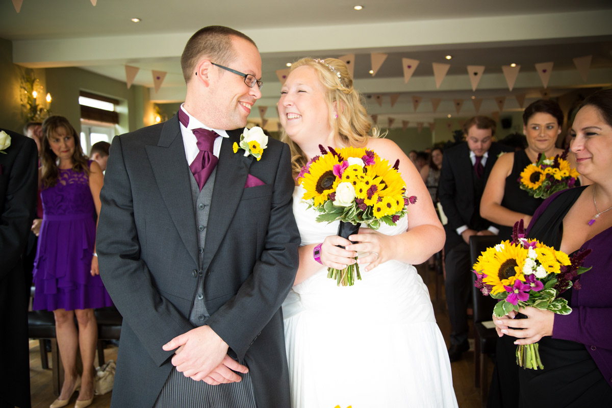 The bride and groom at the old lodge minchinhampton