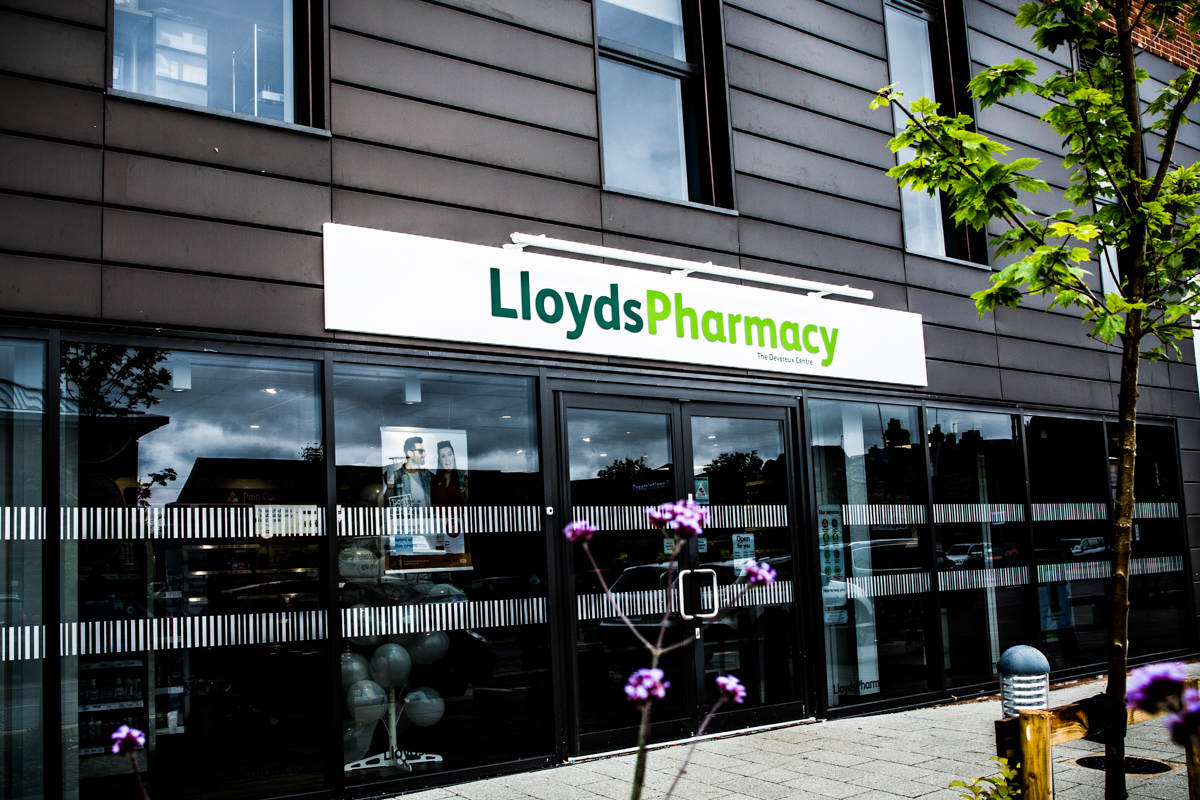 lloyds pharmacy store front The Devereux Centre Tewkesbury