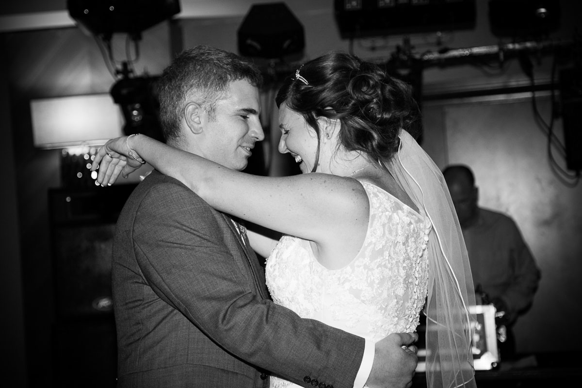 Kilsyth Wedding Photographer. Bride and groom during first dance.