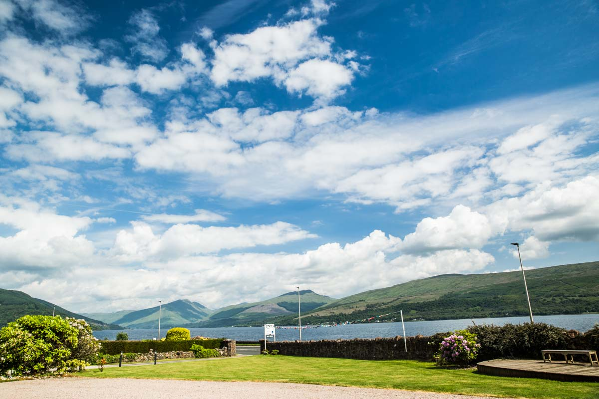 View of Loch Fyne from Rudha Na Craig Inveraray wedding venue