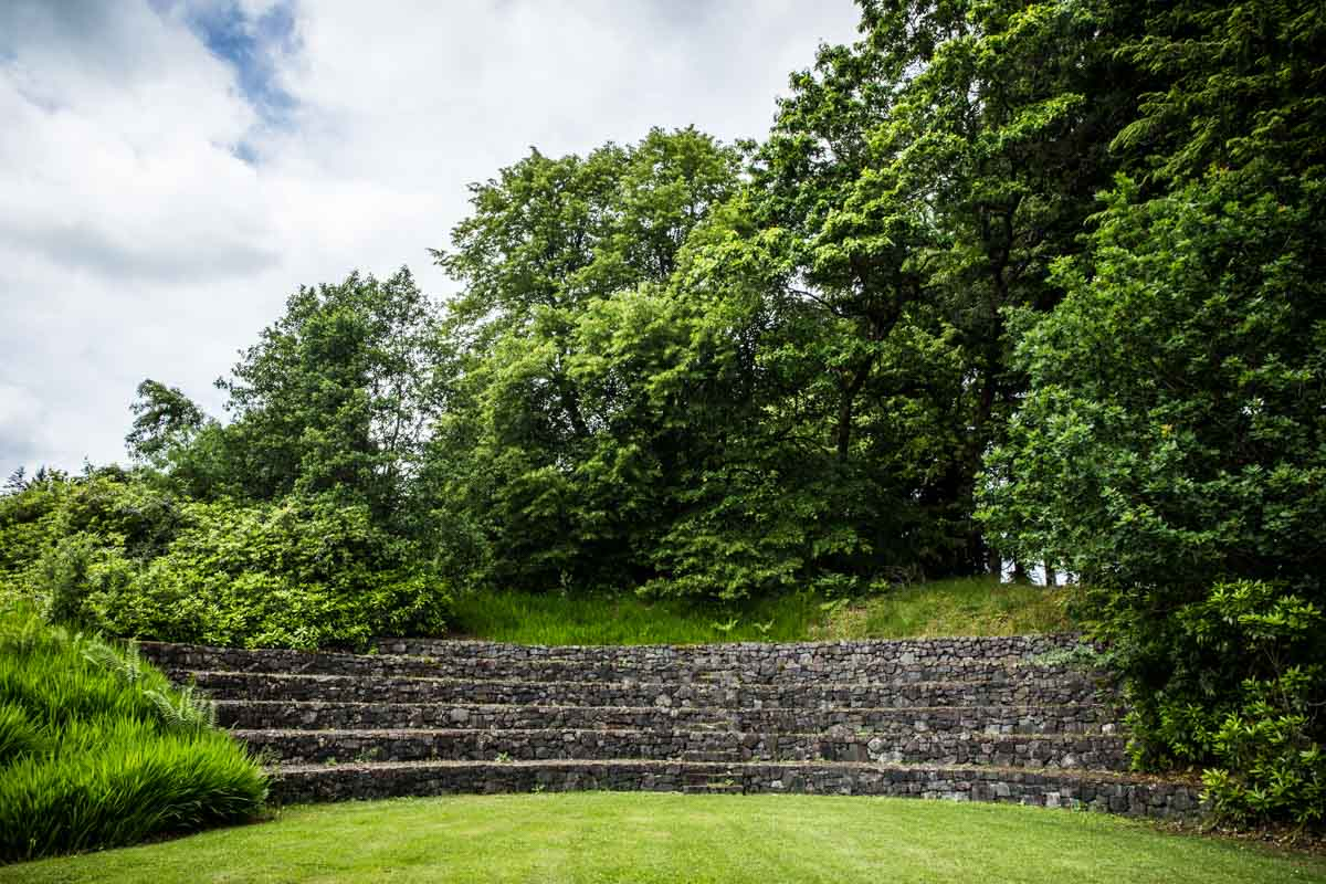 The Amphitheatre and gardens, Ardanaiseig wedding photographer.