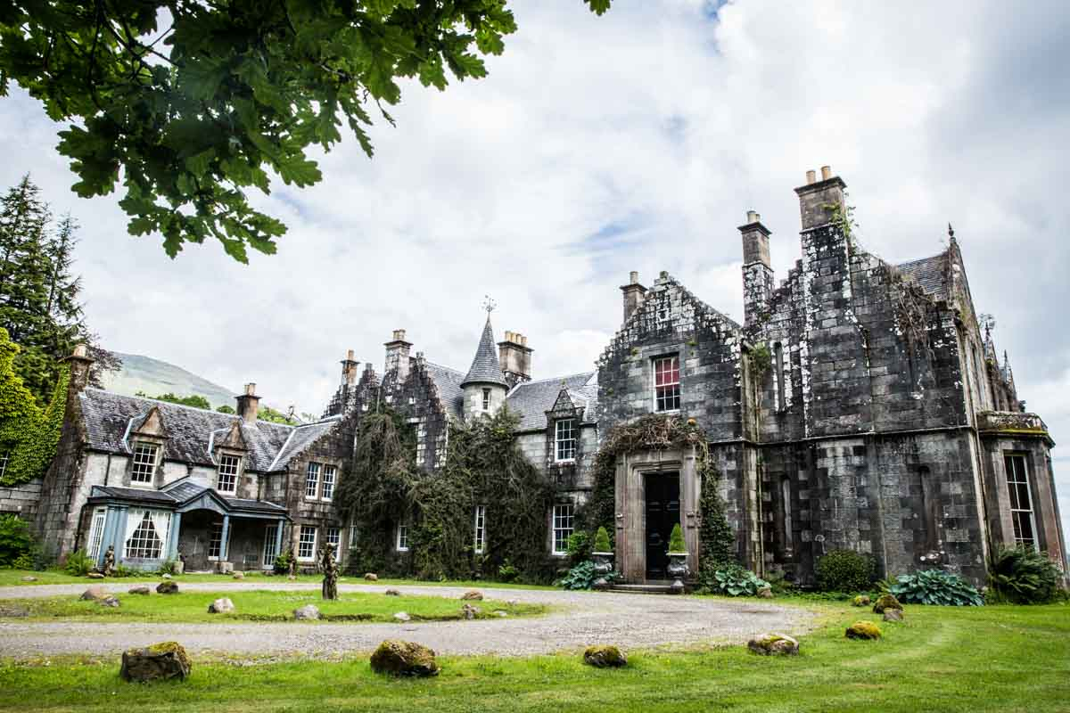Ardanaiseig Hotel wedding venue, west coast of Scotland. Ardanaiseig wedding photography.
