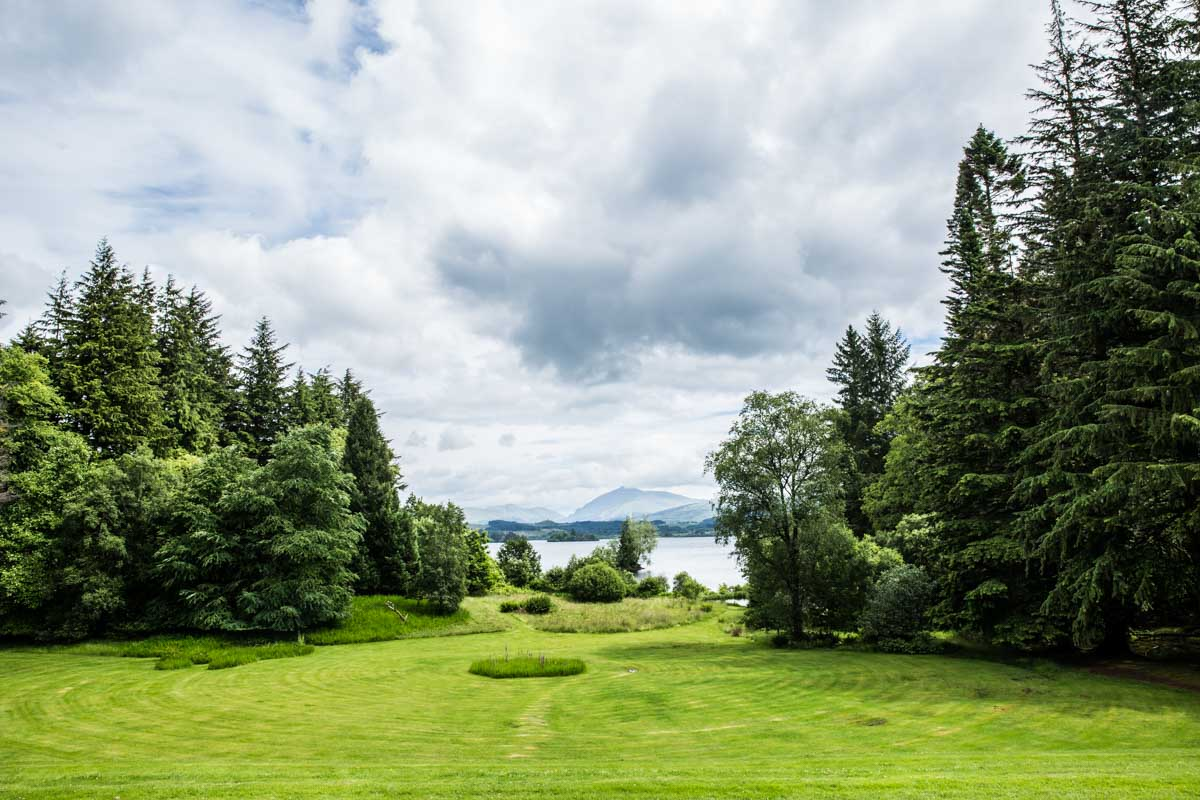 View of Loch Awe by Ardanaiseig wedding photographer.