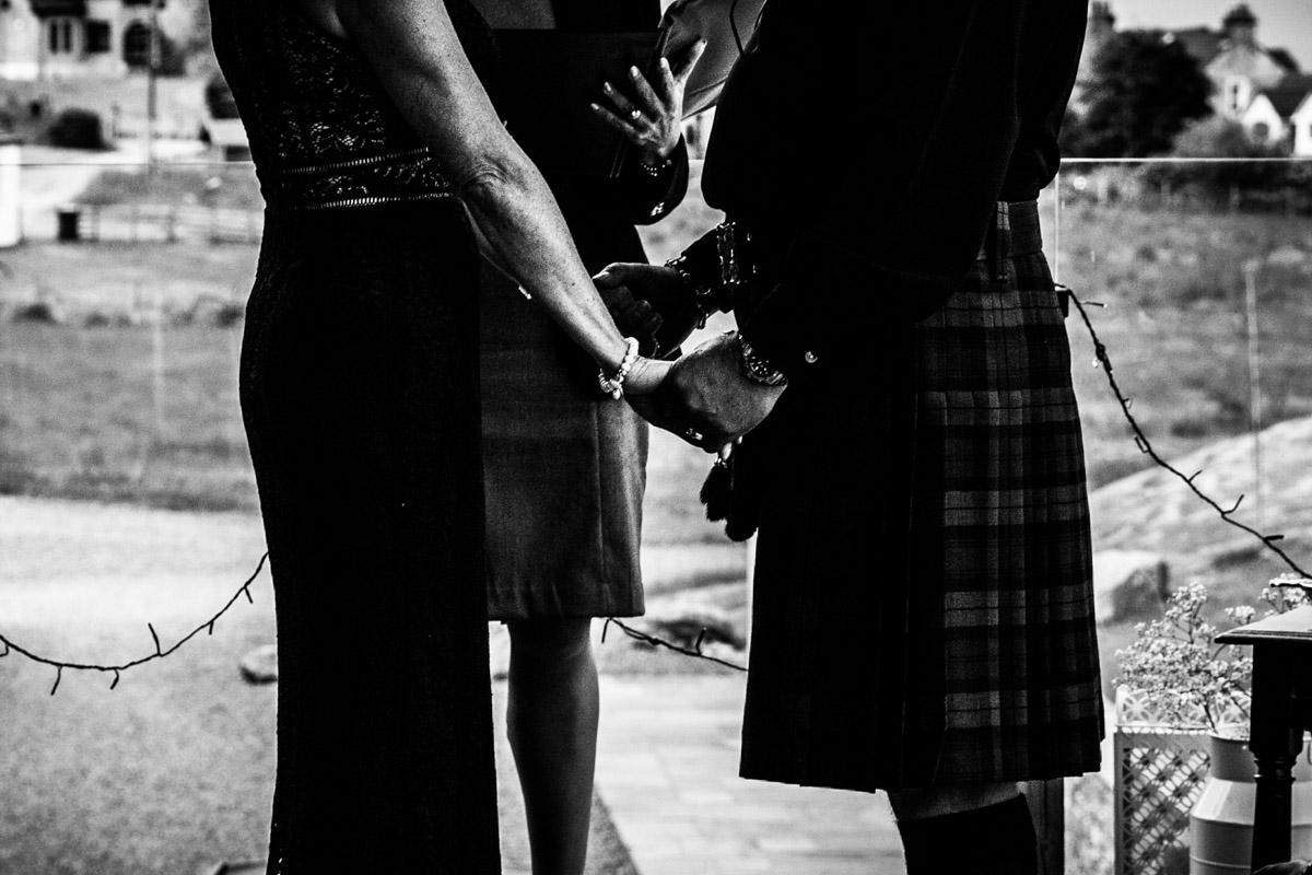Carrick Castle wedding service, Glasgow wedding photographer. Tie The Knot Scotland feature