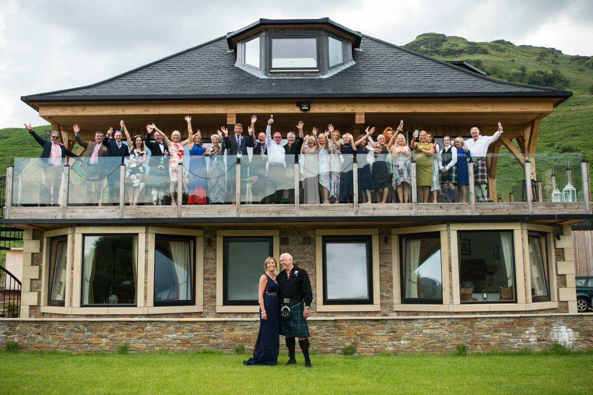 Carrick Castle wedding photographer. Lodge on Loch Goil wedding