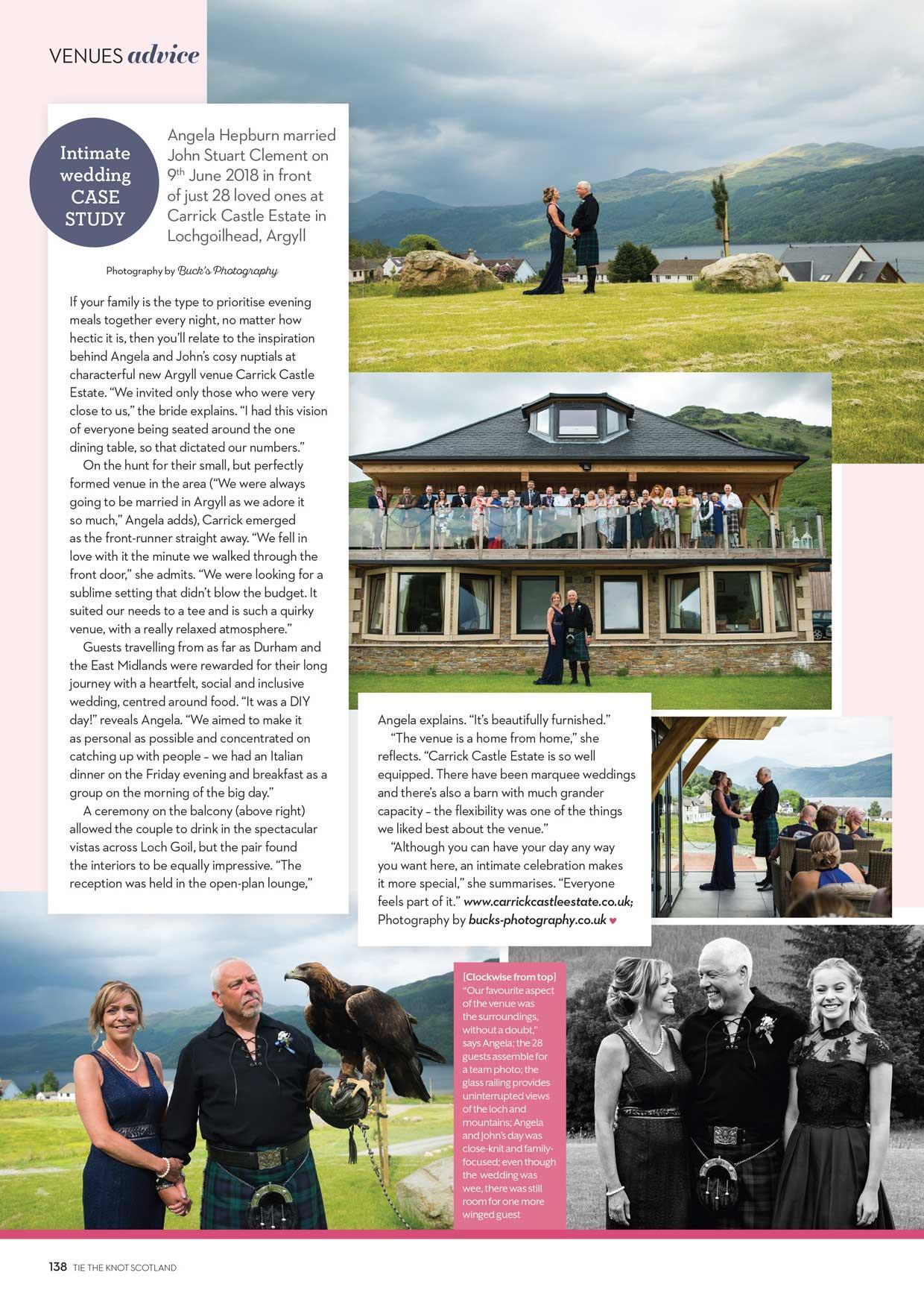 Tie The Knot Scotland Carrick Castle wedding photographer