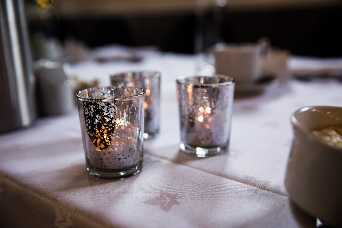 Best Glasgow wedding photographers. Wedding candles.