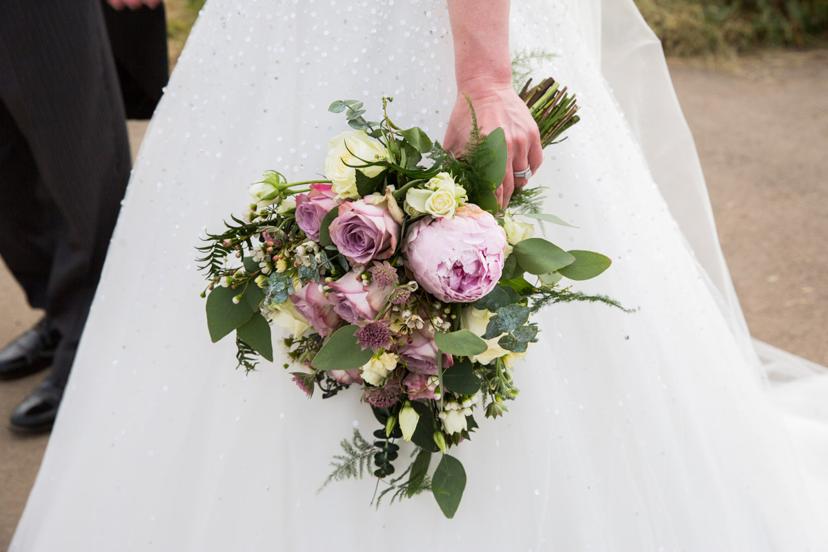Bluebell Wood Florist Tewkesbury. Pink wedding bouquet Glasgow wedding photographer