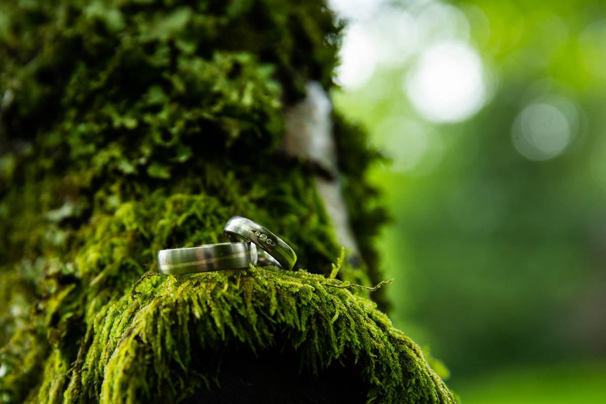 Best wedding photographer at Culcreuch Castle. Wedding ring detail photography