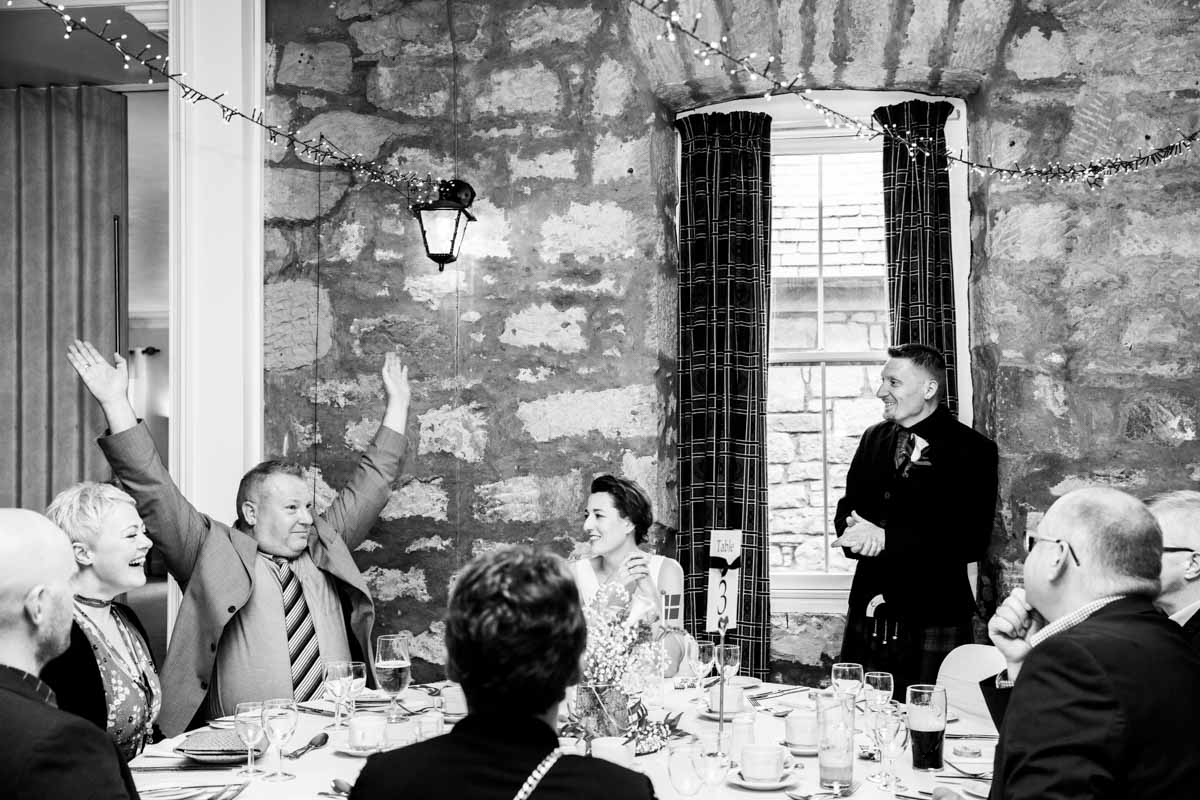 The groom's speech at Culcreuch Castle wedding venue